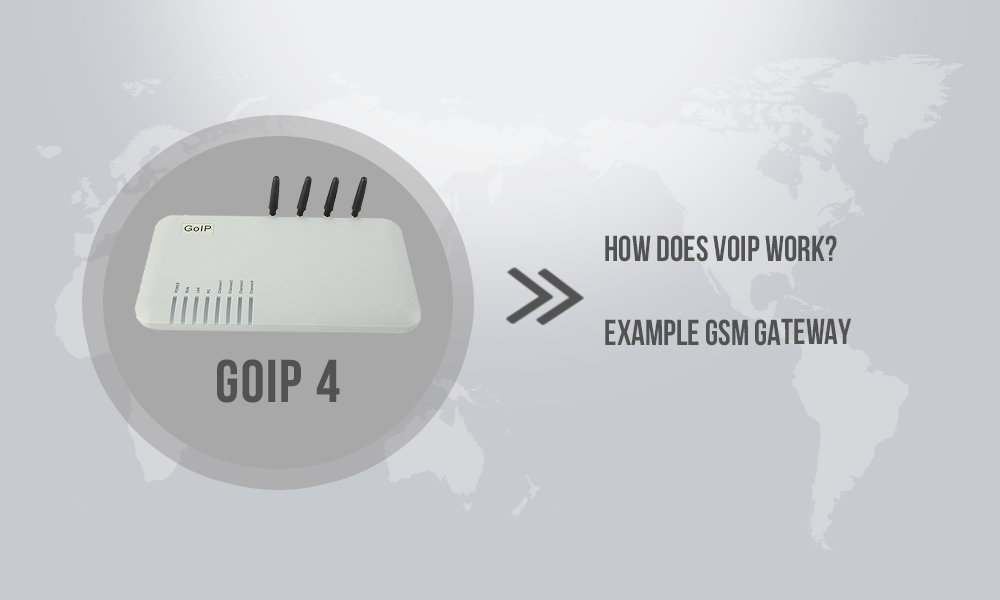 How does VoIP work? Example GSM gateway GoIP 4