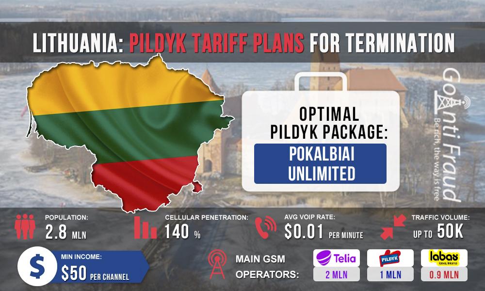 Lithuania: Pildyk tariff plans for termination