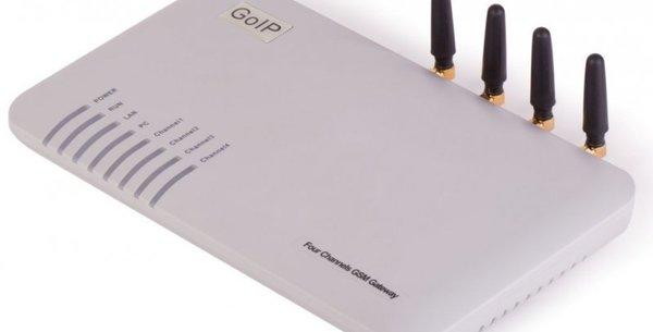 Технические характеристики для GoIP 4